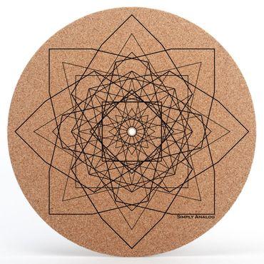 Simply Analog Design GEO Plattentellerauflage aus Kork