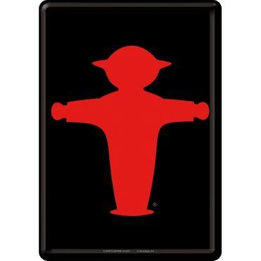 Ampelmann rot - Blechpostkarte 10x14cm - Nostalgic Art