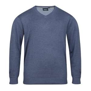 XXL North 56°4 Pullover denimblau melange V-Neck