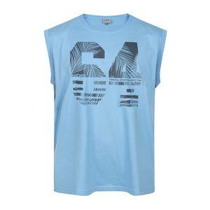 XXL Ahorn Tank Top Print blau