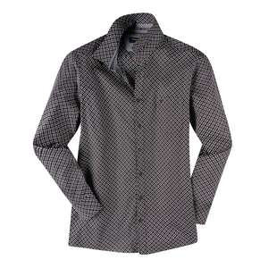 CasaModa Langarmhemd XXL schwarz-weiß-rot gemustert