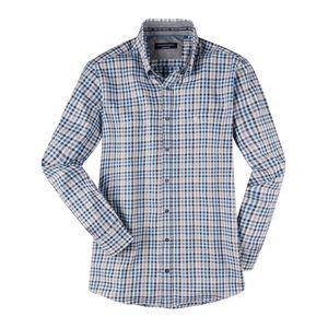 CasaModa Langarmhemd XXL grau-dunkelgrün-blau kariert