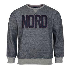 Übergröße North 56°4 Sweatshirt modisch navy meliert