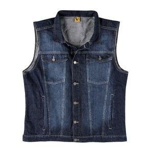 Abraxas Jeans-Weste blau stonewash XXL