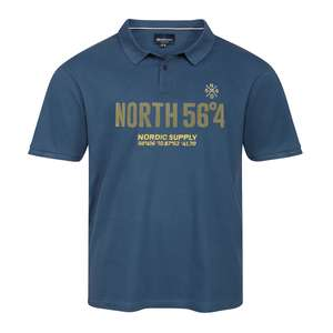 XXL North 56°4 by Allsize Poloshirt stahlblau