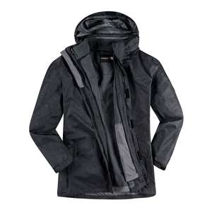 XXL Abraxas anthrazit 3-in-1 Funktionsjacke Zermatt