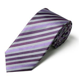 CasaModa Krawatte Überlänge lila-silber gestreift