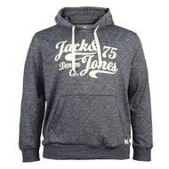 XXL Jack & Jones bedruckter Hoodie navy meliert 001
