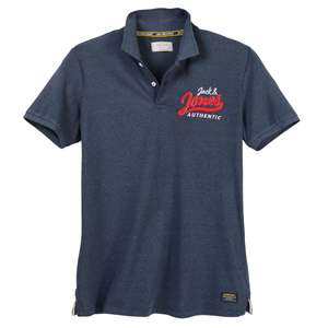Jack & Jones modisches Poloshirt navy melange