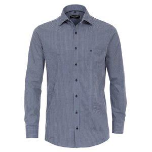 CasaModa Alloverdruck Langarmhemd dunkelblau-weiß XXL