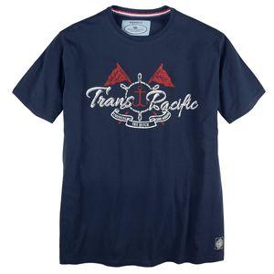 Redfield Print T-Shirt dunkelblau XXL