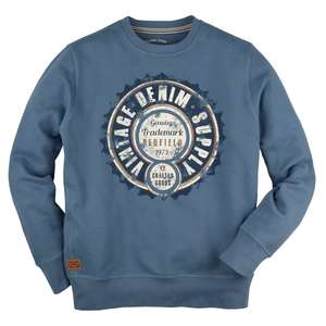 Redfield Sweatshirt Vintageprint blau