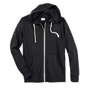 Jack & Jones schwarze Kapuzen-Sweatjacke