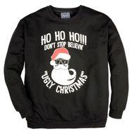 Ahorn Weihnachtsprint Sweatshirt Übergröße schwarz 001