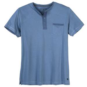 XXL Jockey Night & Day T-Shirt Knopfleiste denimblau