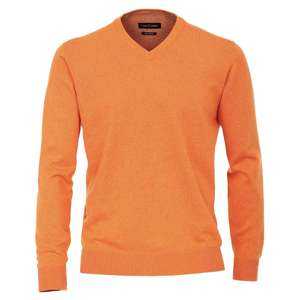 CasaModa V-Neck XXL Strickpullover orange melange