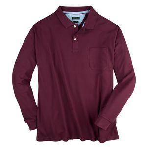 Redfield XXL Langarm Poloshirt pflaume