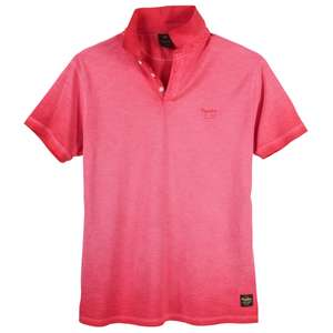 XXL Replika by Allsize Poloshirt Vintage-Optik rot
