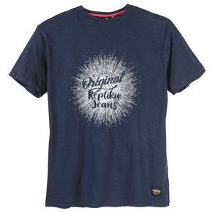 XXL Replika by Allsize T-Shirt Logoprint navy