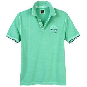Kitaro modisches XXL Poloshirt mintgrün Used Look