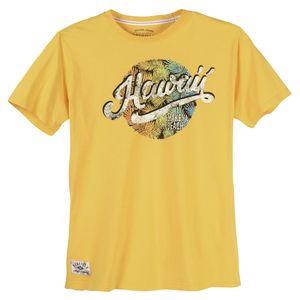 Redfield T-Shirt große Größen gelb Hawaii Print