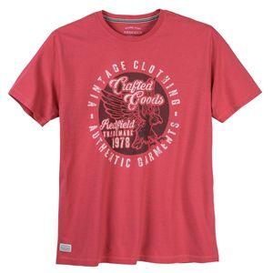 Redfield XXL T-Shirt cranberryrot modischer Print