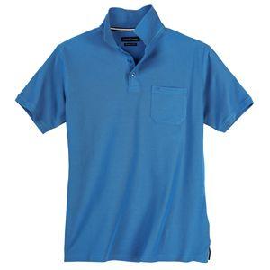 CasaModa Basic Poloshirt große Größen azurblau