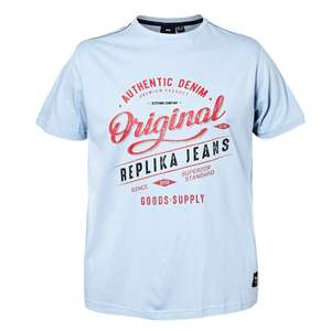 Replika by Allsize Logoprint T-Shirt eisblau