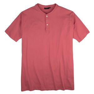 Redfield T-Shirt Knopfleiste cranberryrot