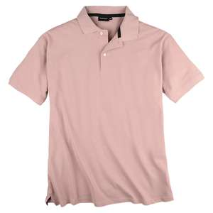 Redfield Basic Stretch-Poloshirt altrosa Übergröße