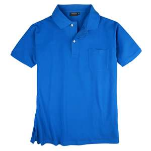 Redfield Piqué Poloshirt XXL brillantblau Brusttasche