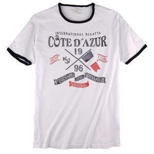 Kitaro T-Shirt große Größen weiß maritim bedruckt