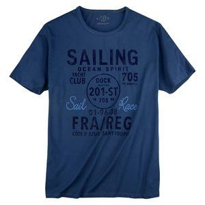 Kitaro T-Shirt dunkelblau Flockprint XXL