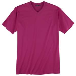 Redfield Basic V-Neck T-Shirt rotviolett