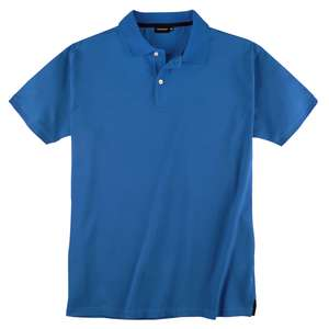Redfield Basic Stretch-Poloshirt azurblau Übergröße