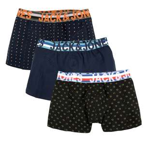 Jack & Jones 3er Pack Trunks schwarz/navy
