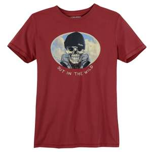 Jack & Jones T-Shirt Print ziegelrot