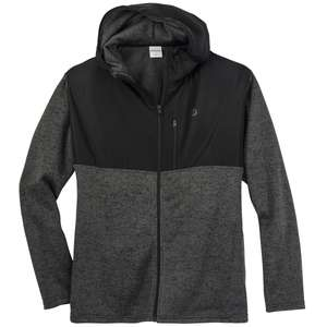 Jack & Jones modische Strickfleecejacke dunkelgrau
