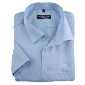 XXL CasaModa bügelfreies Kurzarmhemd hellblau melange