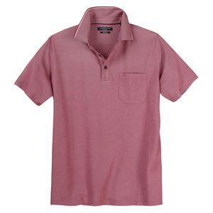 CasaModa Poloshirt easy care pflaume melange