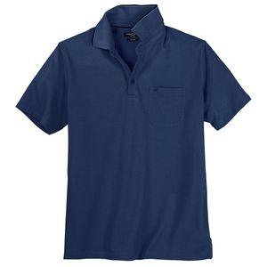 XXL CasaModa Poloshirt easy care blau-schwarz melange