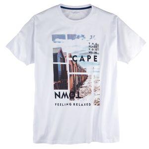 CasaModa T-Shirt bedruckt weiß Übergröße