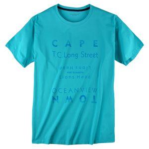 CasaModa T-Shirt bedruckt türkis Übergröße