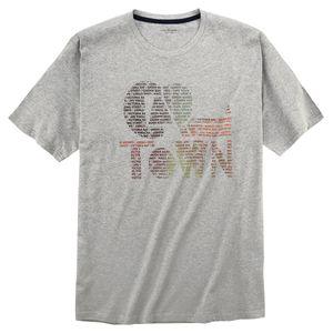 CasaModa T-Shirt mit Print grau melange