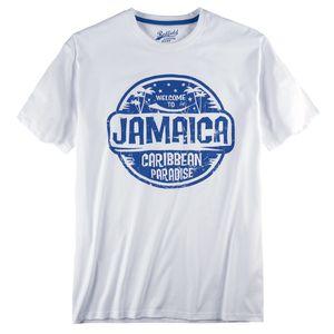 Redfield T-Shirt große Größen weiß Jamaica Print