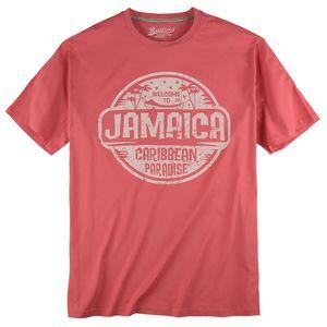 Redfield cranberryrotes T-Shirt Jamaica Print