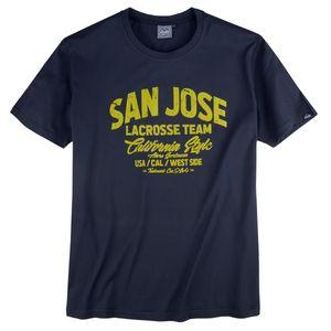 Ahorn Sportswear T-Shirt Frontprint XXL dunkelblau