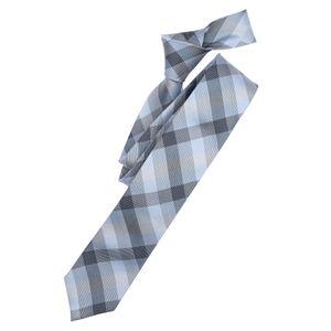 Venti Krawatte blau-grau kariert XXL