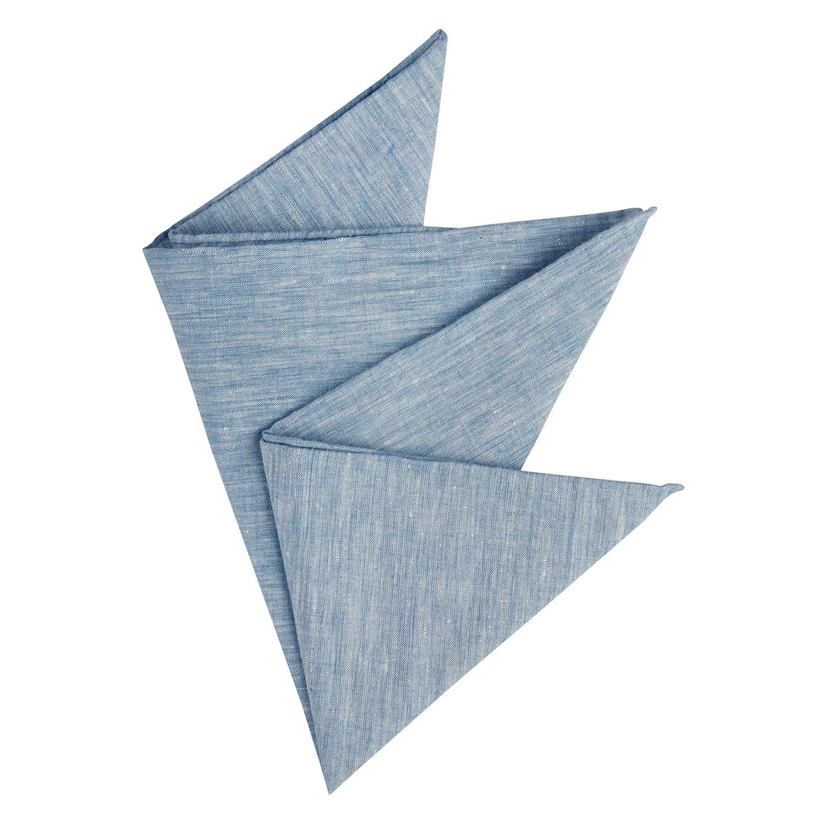 heißer verkauf authentisch hell im Glanz neuer & gebrauchter designer Olymp Einstecktuch Leinen blau melange