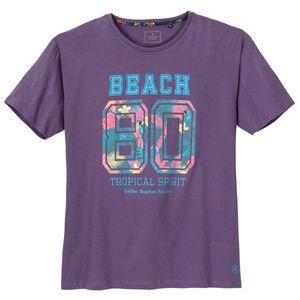 Ragman T-Shirt Tropical-Print lila XXL
